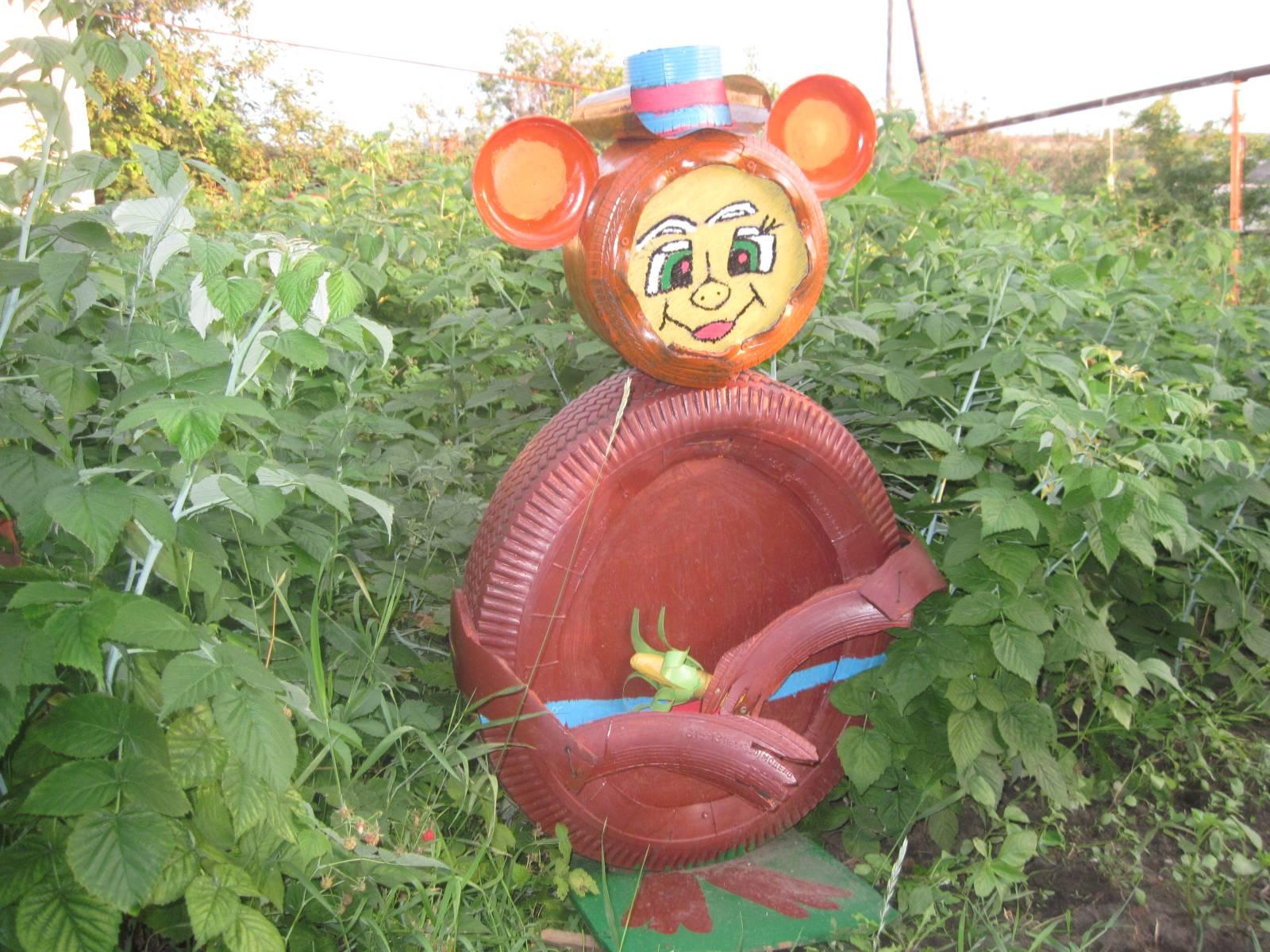 Как сделать медведя из колес